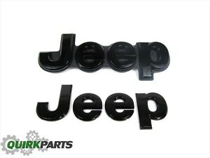14-16 Jeep Grand Cherokee FRONT & REAR BLACKED OUT JEEP EMBLEM BADGE OEM MOPAR | eBay