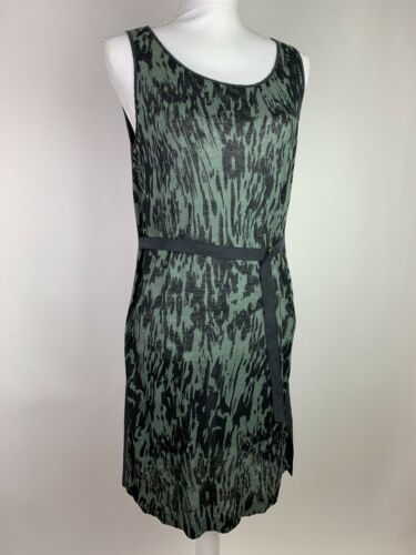 Christopher Fischer Dress Size S Green Black Sleev