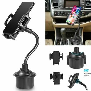 Universal-Car-Mount-Adjustable-Gooseneck-Cup-Holder-Cradle-for-Cell-Phone