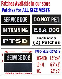 service dog vests and patches