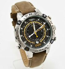 New Timex Men's T2N740 Intelligent Quartz Tide-Temp-Compass Leather Strap Watch