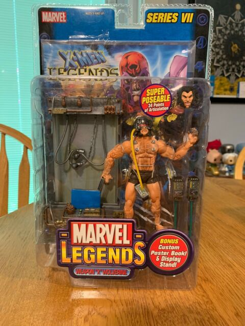 "New 2004 ToyBiz Marvel Legends 6"" Weapon ""X"" Wolverine Action Figure Sealed A30"