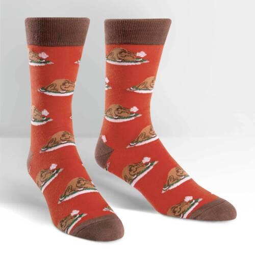 Sock It To Me Men/'s Crew Socks Turkey Time