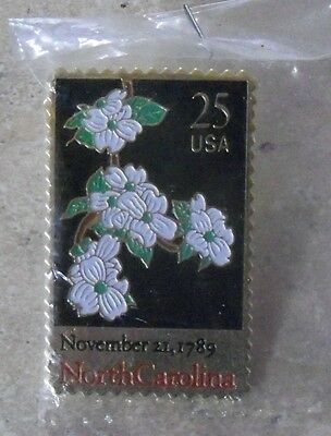 HAT PIN NORTH CAROLINA STAMP NOVEMBER 21,1789 USA 25 CENT