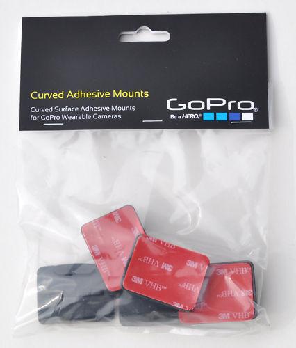 Gopro Curved Adhesive Mounts Cámara Hd Cam De Montaje Go Pro