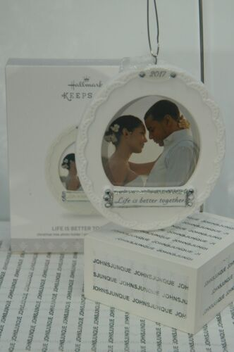 LIFE IS BETTER TOGETHER HALLMARK ORNAMENT 2017~PORCELAIN PHOTO~FREE SHIP IN US