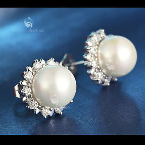 18k-white-gold-GF-made-with-swarovski-crystal-wedding-pearl-stud-earrings