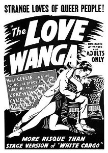 Wall art. Reproduction poster Vintage movie ad The Love Wanga