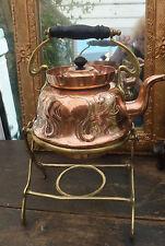 Art Nouveau tronando cobre basculante Hervidor patente de diseño Remolino Diseño 1899