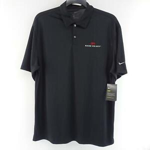 NWT-Mens-Nike-Dri-Fit-Black-Golf-Polo-Shirt-Size-Large-Performance-Sport-Casual