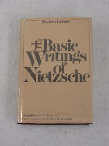 BASIC WRITINGS OF NIETZSCHE Walter Kaufmann Modern Library Giant