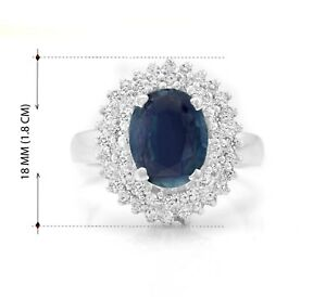 925-Sterling-Silver-Ring-with-Blue-Sapphire-Natural-Gemstone-Size-4-11