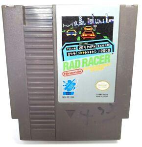 Original Rad Racer NES Nintendo Game White Oval Seal 1987 Japan Nice
