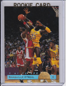 Details About Shaquille Oneal Shaq Rookie Card 1 Of 74500 Rc Basketball Draft Pick Lsu Tiger