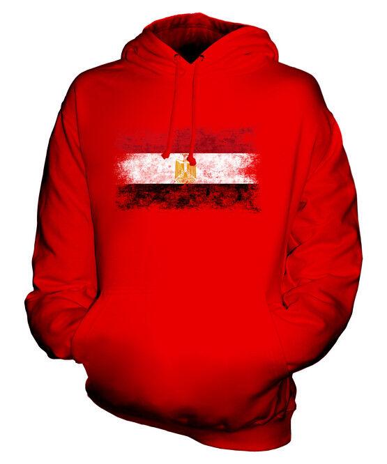 EGYPT DISTRESSED FLAG UNISEX HOODIE TOP MISR EGYPTIAN MASR  FOOTBALL