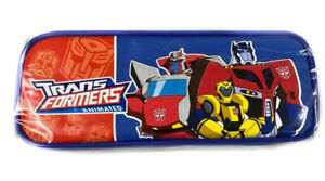 Animated Transformers Bumble Bee /& Optimus Prime Red Pencil Case Pencil Pouch