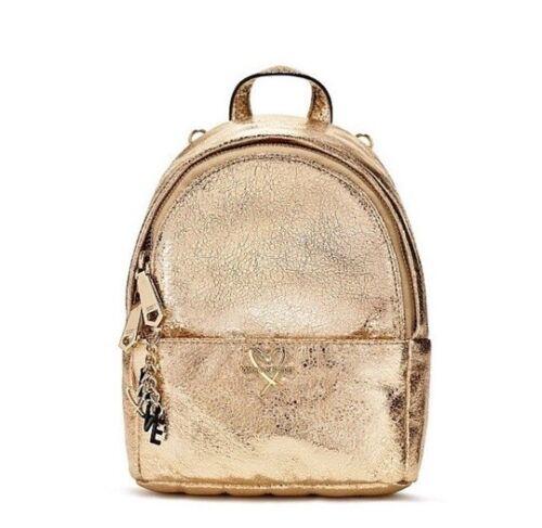 Metallic Crackle Gold Mini City Backpack Purse Love. Details about  /Victoria/'s Secret NEW