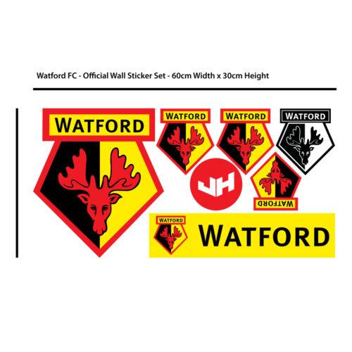 Watford FC Wall Sticker Smashed Vicarage Road Stadium /& Watford FC Decal Set
