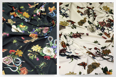 Lady McElroy Stretch Viscose Crepe Fabric LM-1846-KingdomOfTheCat-M