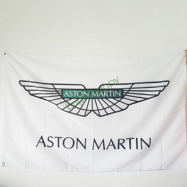 ASTON MARTIN GREEN FLAG 3X5 POLYESTER