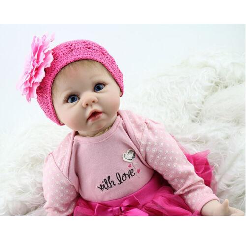 55cm Handgemachtes Weiches Silikon Vinyl Reborn Baby Doll Neugeborene Spielzeuge