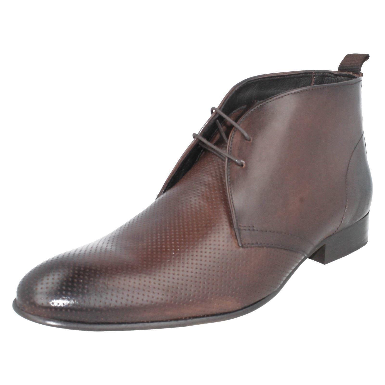 Base London 'Händler' Herren gewaschen Braun Smart Chelsea Stiefel