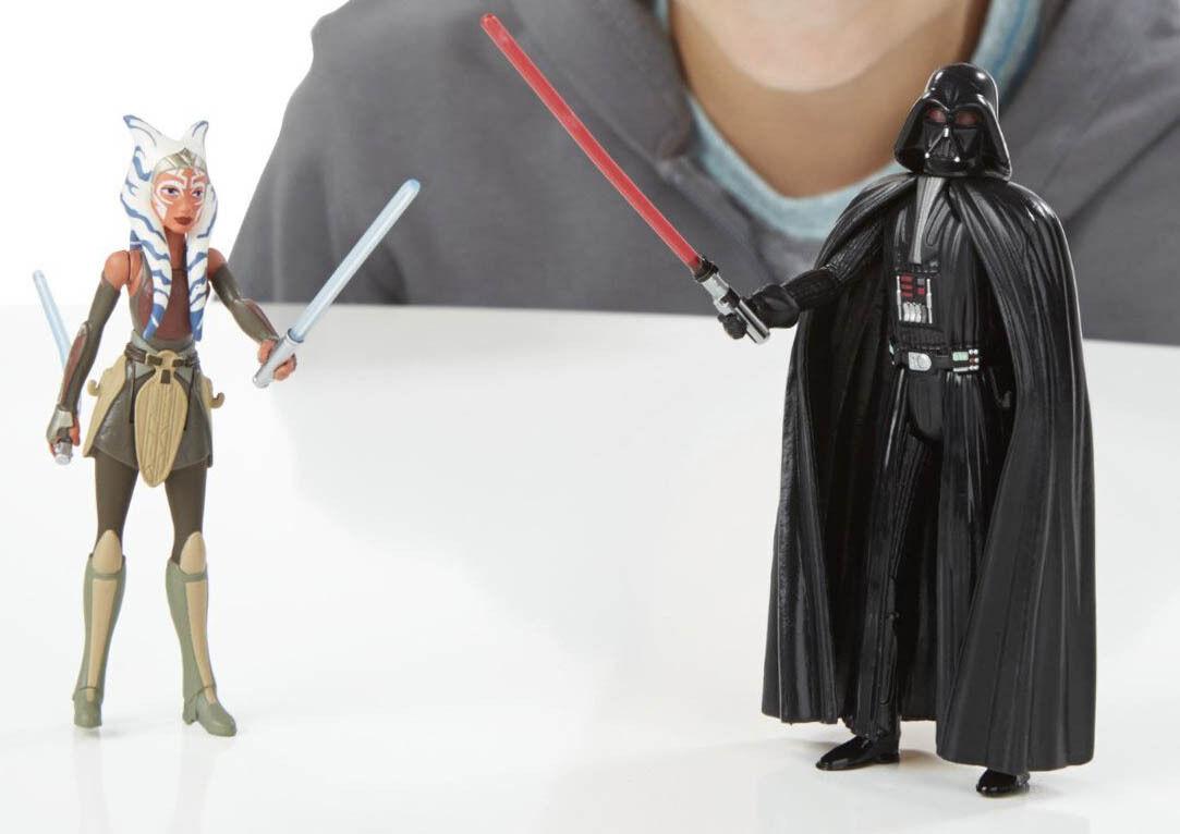 "Star Wars Rebels space mission Darth Vader /& Ahsoka Tano 3.75/"" inch figure"