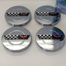Set of 4 Chrome wheel center caps rim fits Chevy Corvette Camaro 91-96 ZR1 C4 3""
