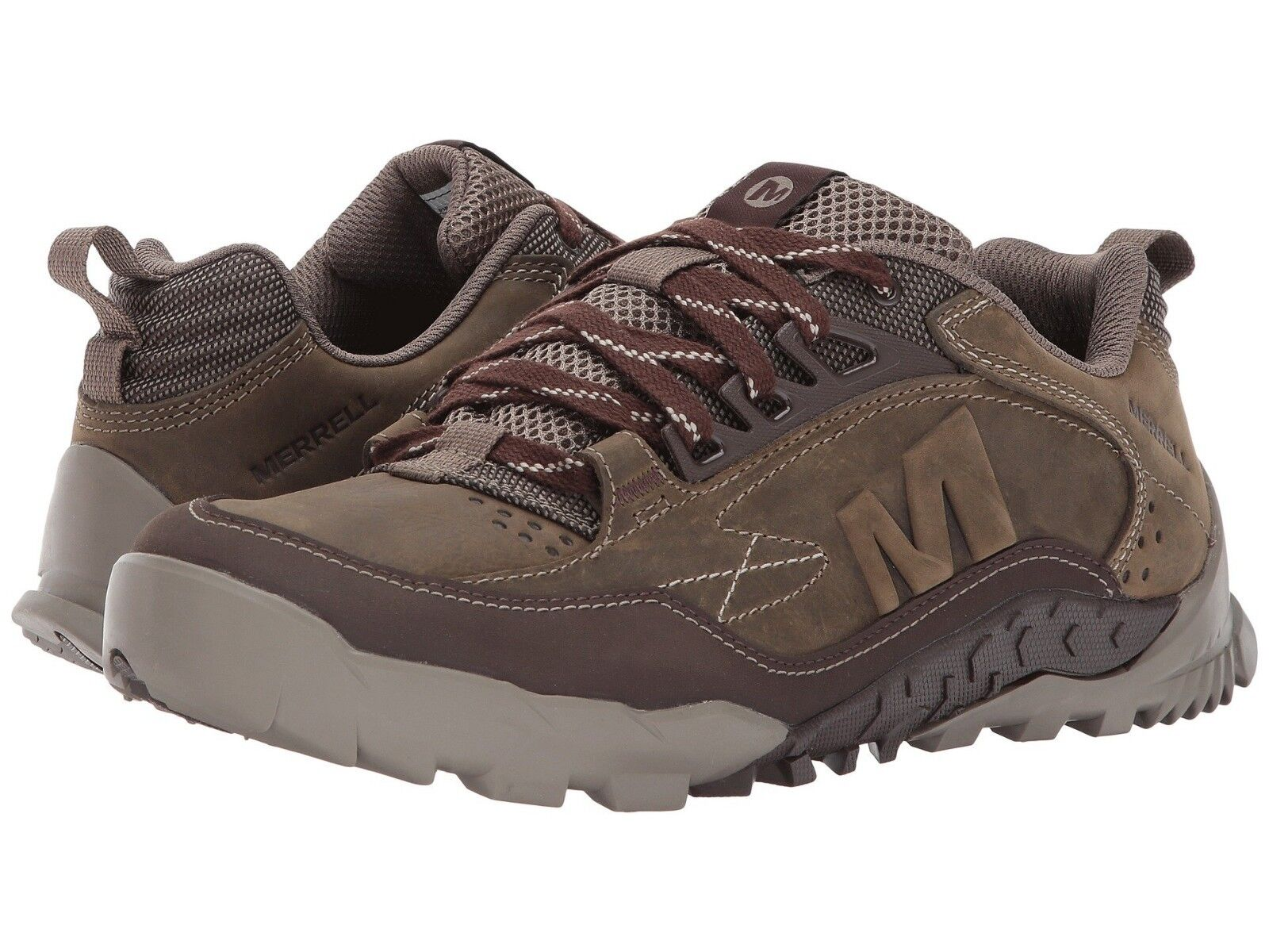 Mens Merrell Annex Trak Low Cloudy Tan Brown Nubuck Leather Trail Running shoes