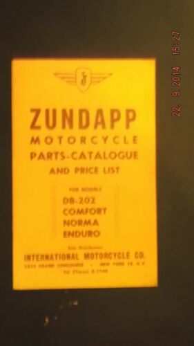 Zundapp Parts Cat/Price list DB-202, Norma, Comfort, Enduro [3-53]