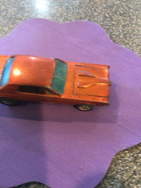 1967 Hot Wheels Die Cast Car Redline Custom Cougar Orange Brown Interior Nice