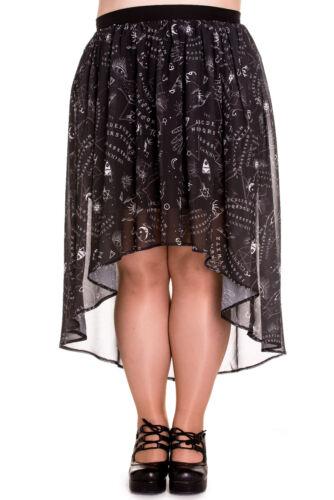 Spin Doctor Plus Size Gothic Ouija Sun Moon Eye Stretchy Spirit Skirt 2X 3X 4X