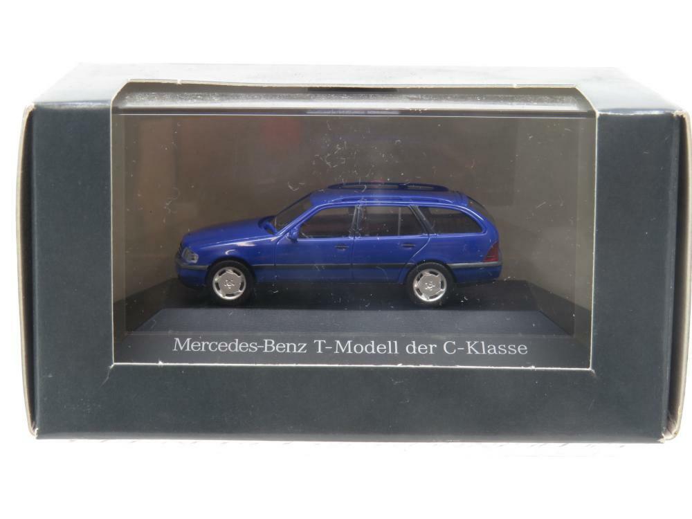 Herpa Modellauto Mercedes Benz Classe C Bleu 1 87 Échelle Dealer Modèle Boîte