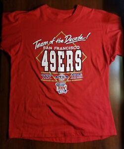 65355a66 Details about Vintage San Francisco 49ers Team of the Decade Shirt 1989  Super Bowls NFL