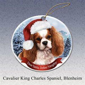 Cavalier King Charles Spaniel Dog Santa