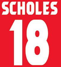 Manchester United Scholes Nameset Shirt Soccer Number Letter Heat Football Home