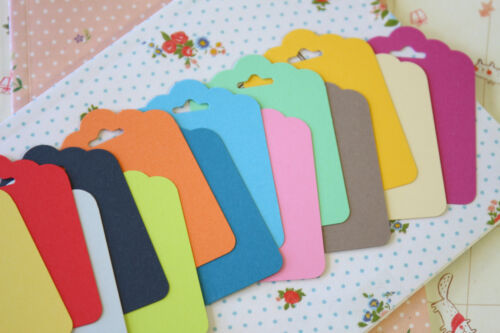 Colour Fancy Scallop Tags Vintage Series handmade wedding wishing tree gift tags