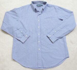 Ralph-Lauren-Dress-Shirt-Long-Sleeve-XL-Blue-White-Pink-Cotton-Men-039-s-Button-Up