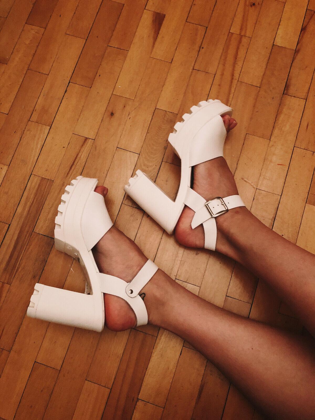 TOPSHOP platform blancoo sandals NEW eu39 uk6 us9