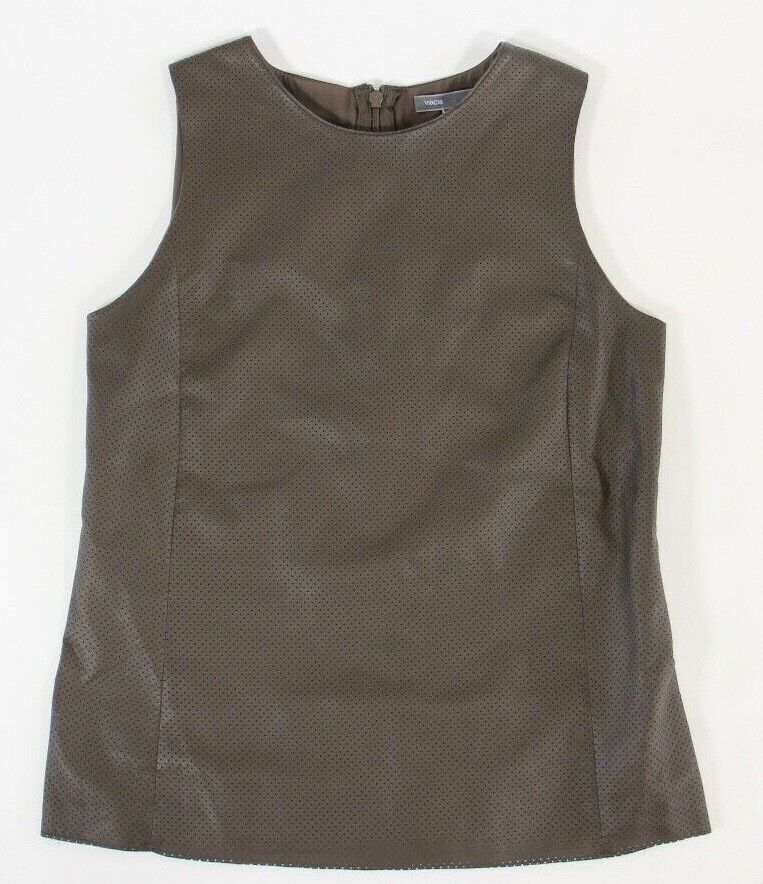 Vince Woherren 100% Lamb Leather Sleeveless Top Größe 2