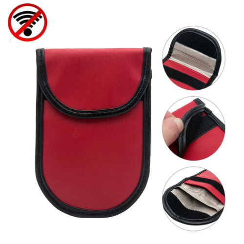2x Lock Car Key Signal Blocker Keyless Entry Anti-Theft Fob Pouch Faraday Bag UK