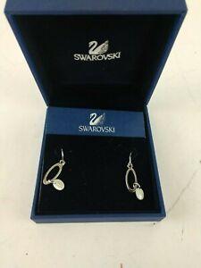 Swarovski-Crystal-Earrings-Ring-Circle-Silver-Color