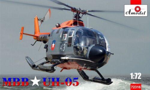 Neuheit !!! 1:72 Amodel #72316  MBB UH-05 helicopter