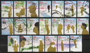 Nederland  -  collectie zegels  -  2002 -  CW 38,50 euro  -  gebruikt