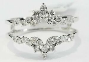 1-25ct-Diamond-Solitaire-Enhancer-Wedding-Ring-Guard-Wrap-10k-White-Gold-Over