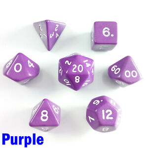 Opaque Poly 7 Dice RPG Set Green Pathfinder 5e Dungeons Dragons D/&D Role Play HD