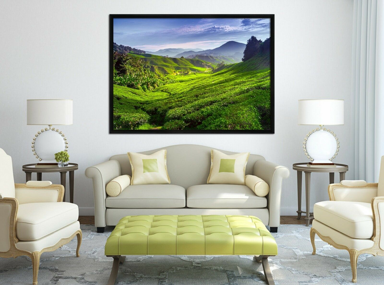 3D vert Nature Scenery 2 Framed Poster Home Decor Print Painting Art WALLPAPER