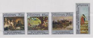 Philippine-Stamps-1972-Paintings-by-Juan-Luna-Amorsolo-amp-Hidalgo-complete-set-M