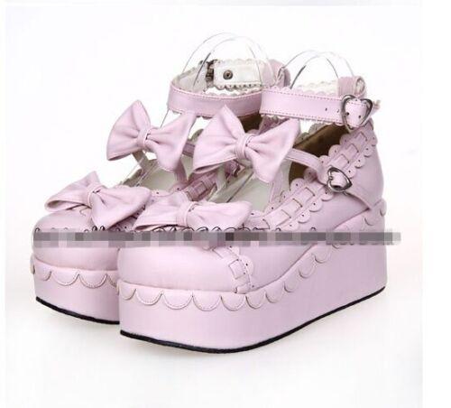 Compensées Plate forme Pompes Chaussures De Cosplay Creeper 12colors Princesse Lolita Sweet Womens n0C4q6