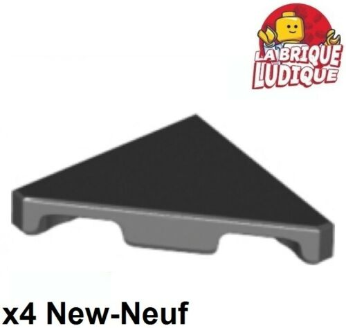 Lego 4x Tile plaque lisse 2x2 coin triangle triangulaire noir//black 35787 NEUF